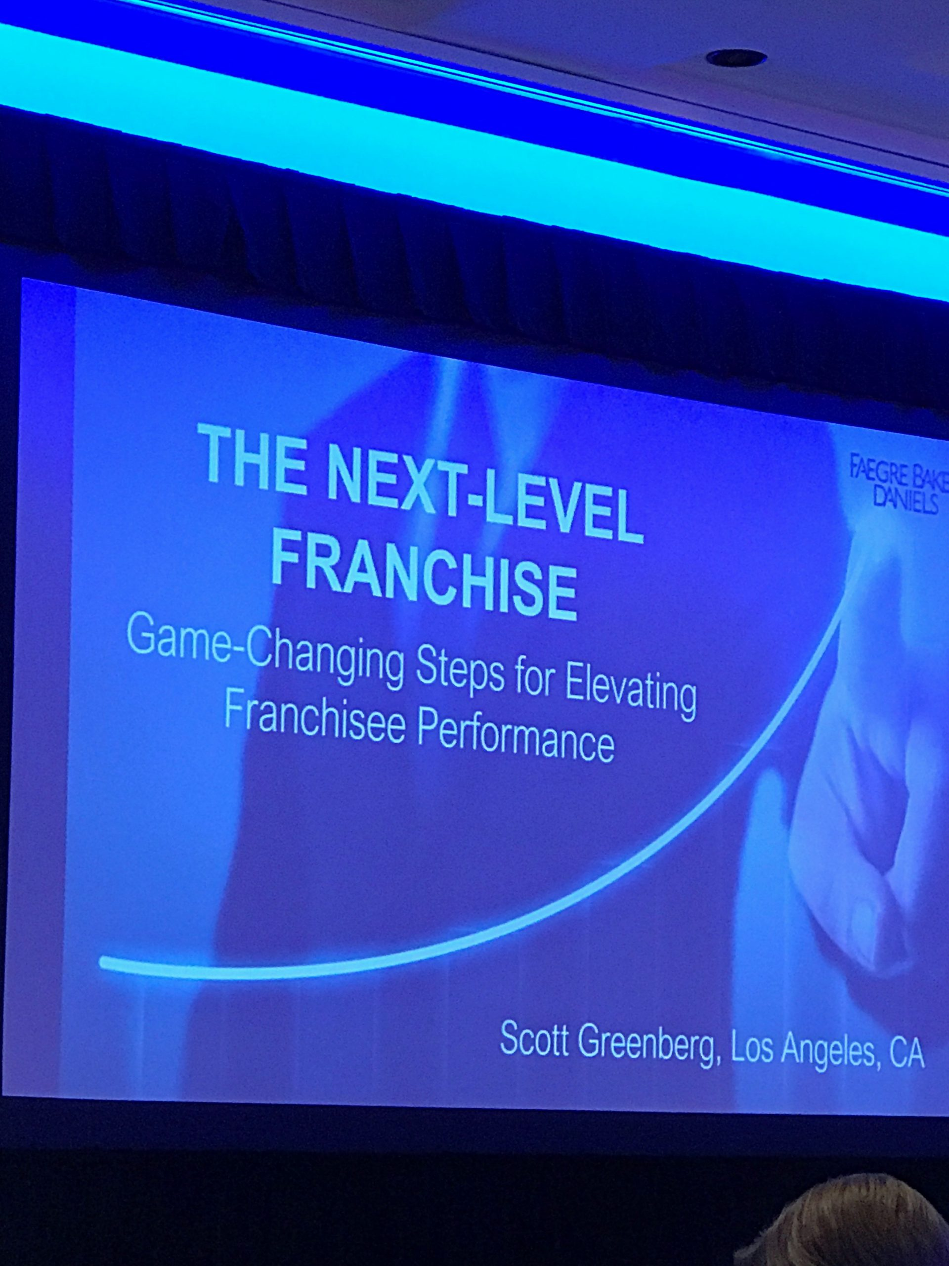 A presentation from the Faegre Franchise Summit